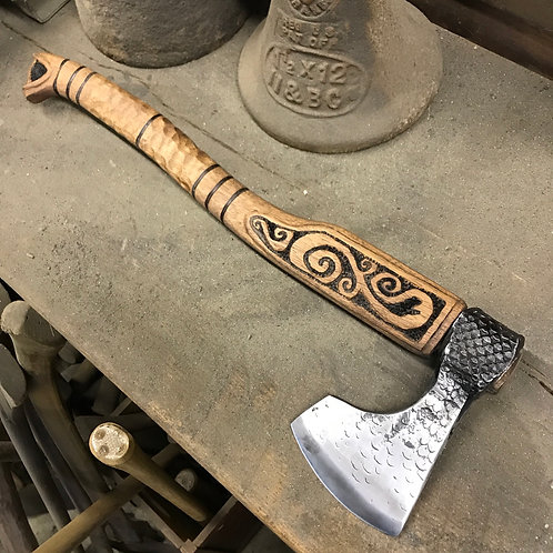 Bearded Hatchet with Engraved handle