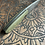 "Thumbnail: Sidekick -Damascus 2.5""- Marble Jade handle"