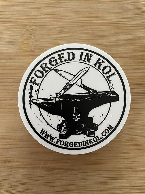 """Forged in Kol 2.5"""" round Sticker"""
