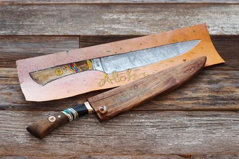Custom Aloha Knife w/ orginal design drawing