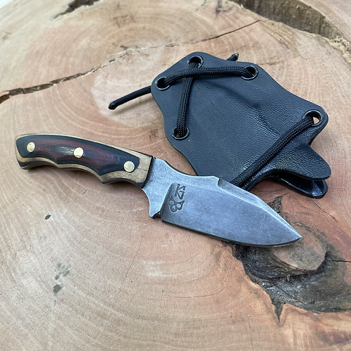 Sidekick -   Drop Point with Black/red skateboarddeck and Kydex sheath #3