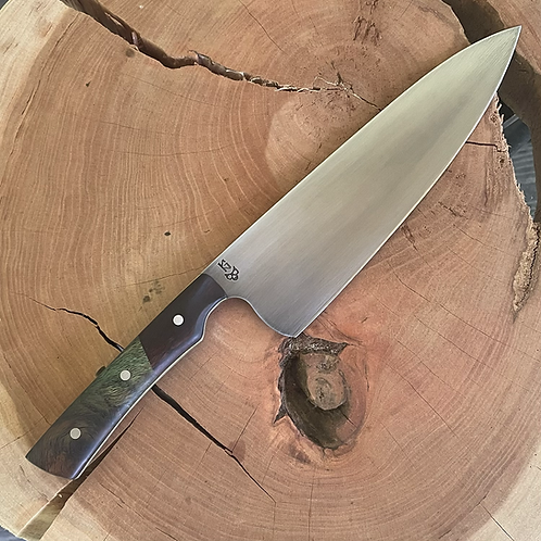 """8"""" Chef Knife- Green maple/Iron wood"""