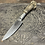 Thumbnail: Deer antler camp knife with engraved face