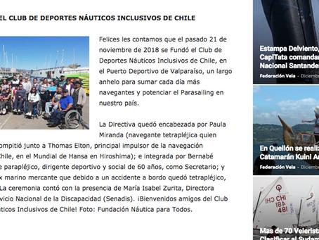 CLUB DE DEPORTES NÁUTICOS INCLUSIVOS DE CHILE