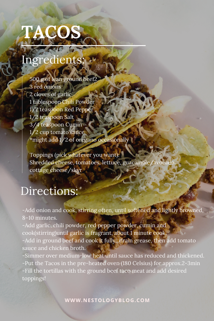 Taco quick easy recipe