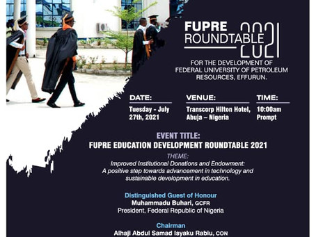Dr. Noel Akpata invited as guest speaker FUPRE ROUNDTABLE 2021...