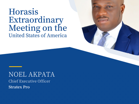 Founder, Nigeria Feeds the World Initiative(NFWI) speaks at Horasis Extraordinary Meeting on the US