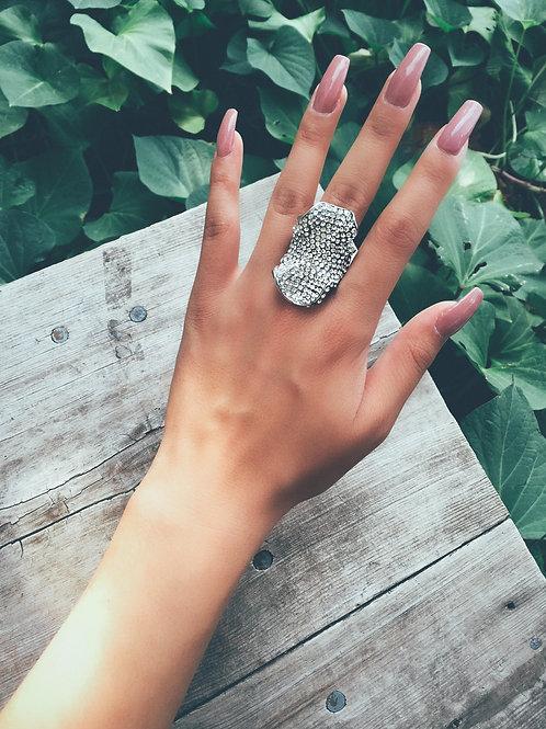 Crystal Wave Rock Ring