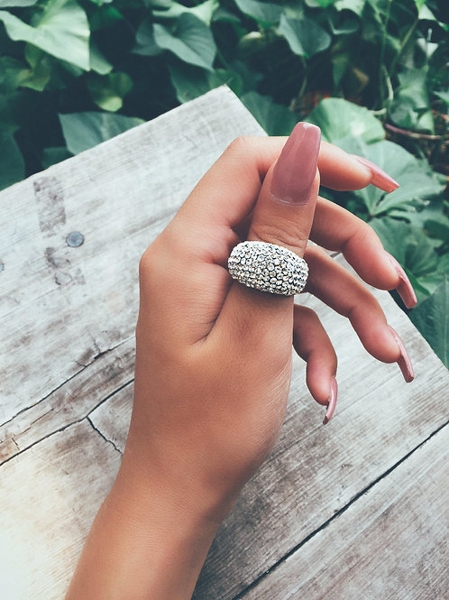 Crystal Bed Rock Ring