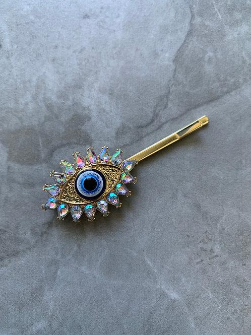 AB Hamsa Eye Hair Pin