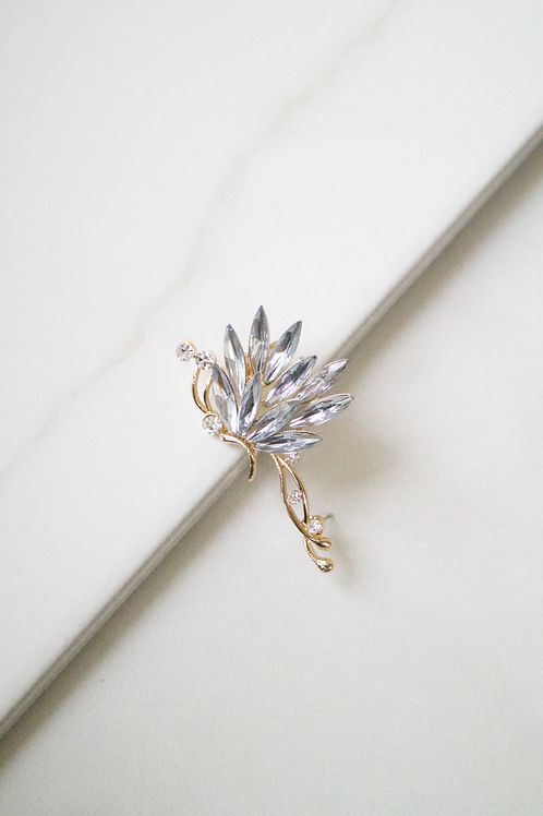 Crystal Sprouts Ear Cuff