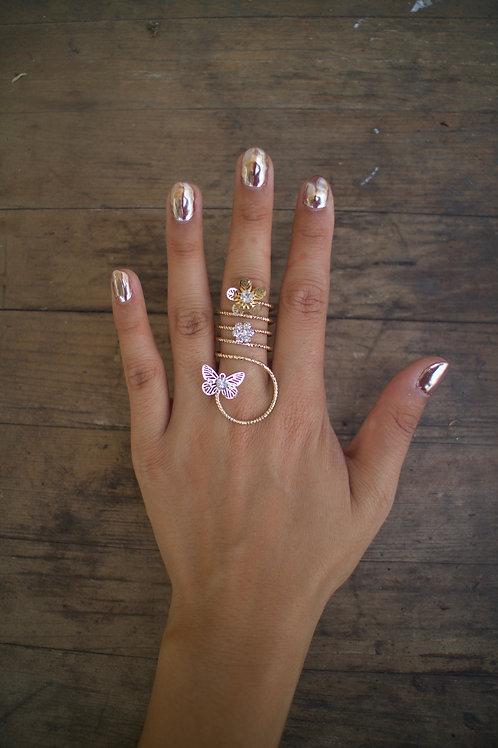 Twisted Butterfly Ring