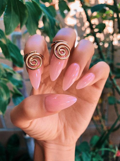 Golden Swirl Nail Ring
