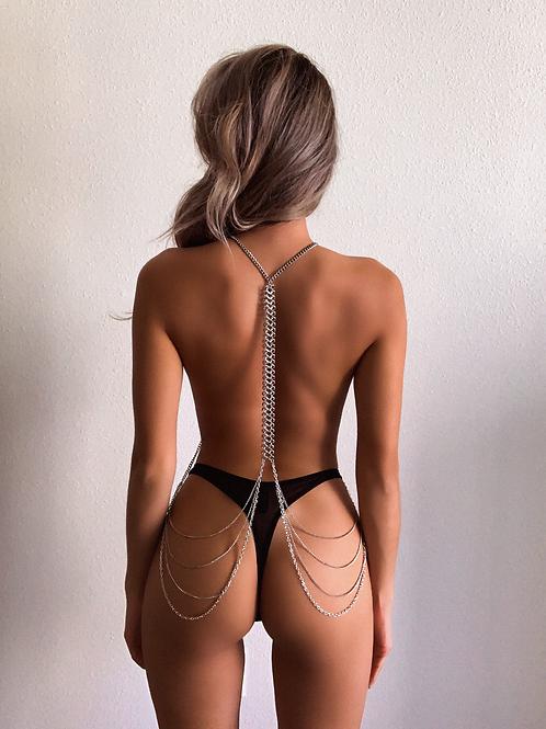 Silver Centipede Layered Body Chain