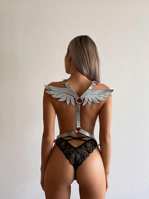 Silver Angel Wings Body Harness