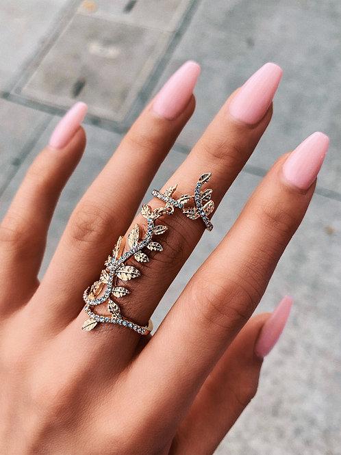 Crystal Flower Vine Ring