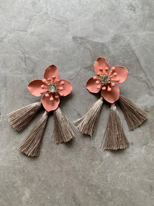 Pastel Floral Tassels Earrings