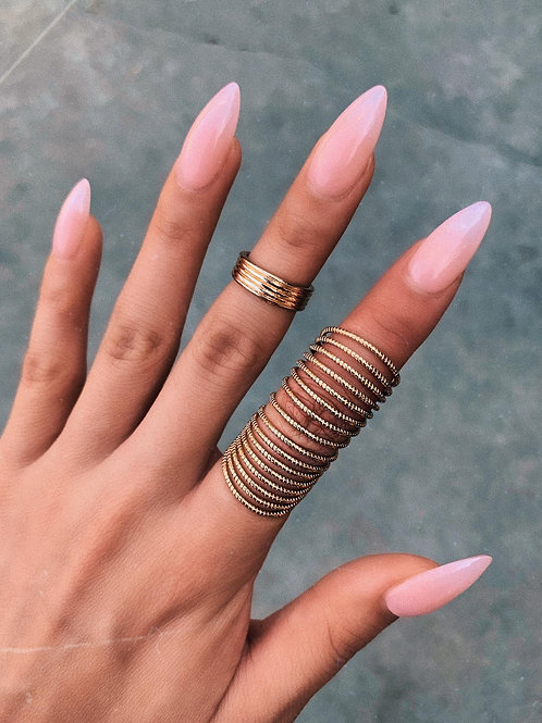 Golden Twists Ring