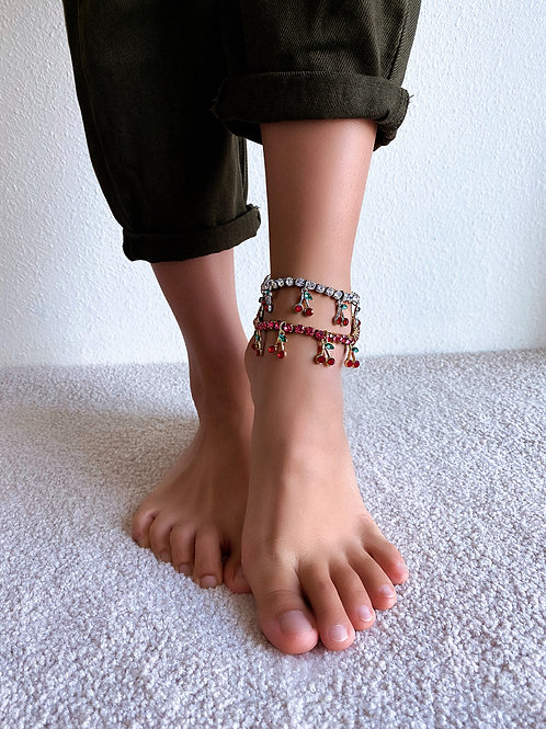 Candied Crystal Cherries Anklet