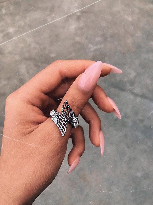 Crystal Angel Wings Ring