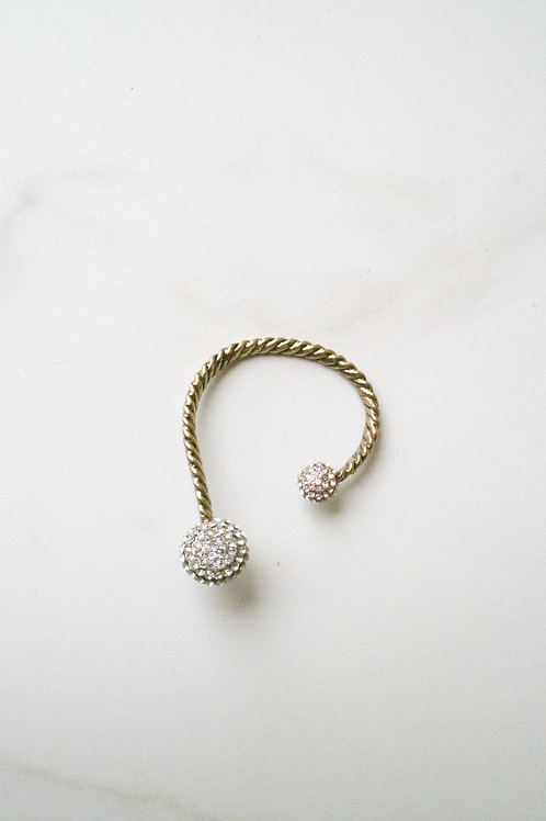 Crystal Ball Ear Cuff