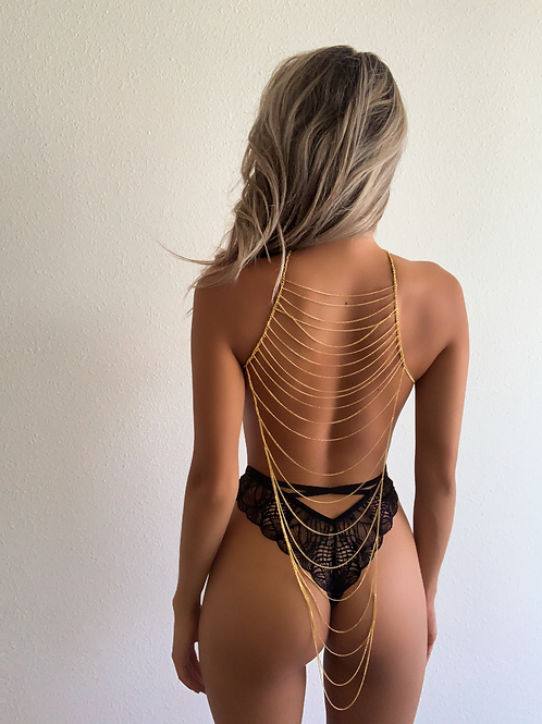 Waterfall Chains Back Body Chain