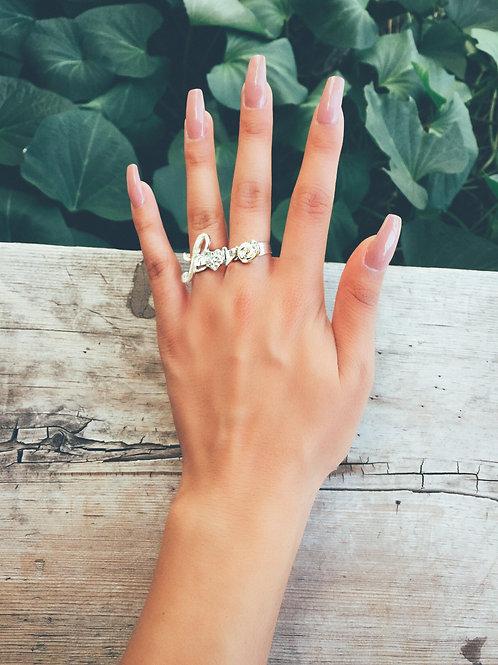 Love Double Finger Ring