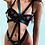 Thumbnail: Pleather Black Present Tie Body Harness