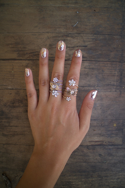 Mini Floral Twist Ring