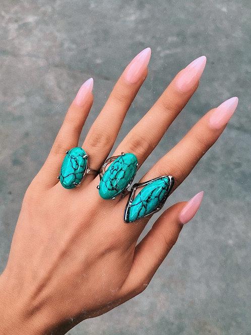 Turquoise Rock Ring
