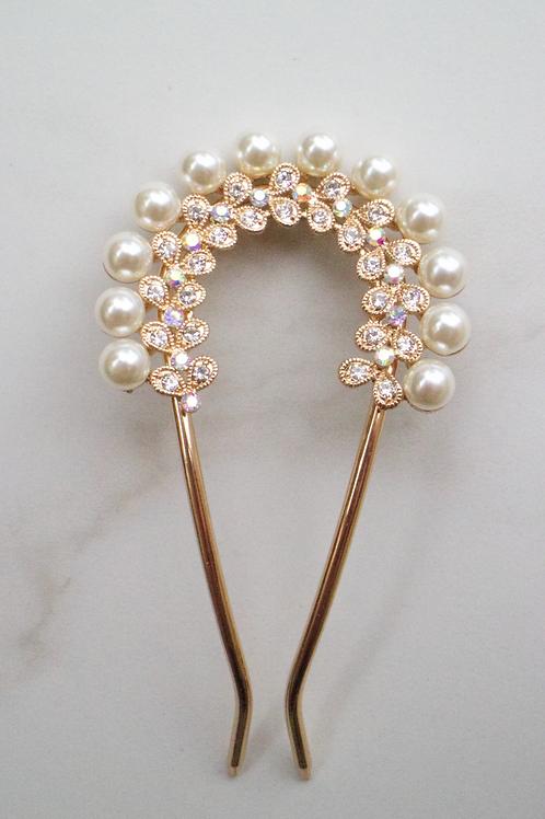 Ayati Pearl Double Stem Pin
