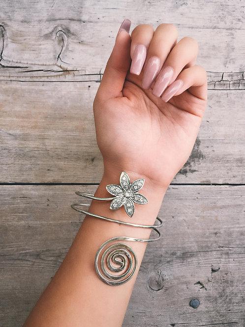 Swirling Flower Arm Cuff