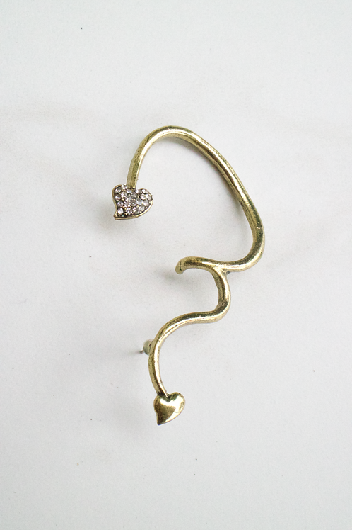 Hearts and Squiggles Ear Cuff