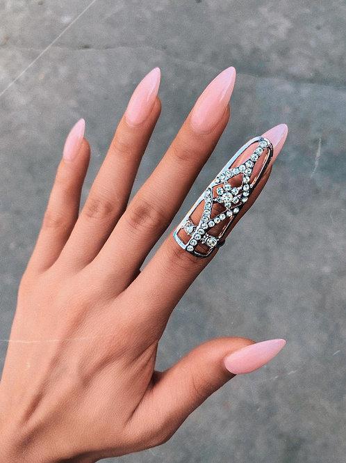 Crystal Floral Nail Ring