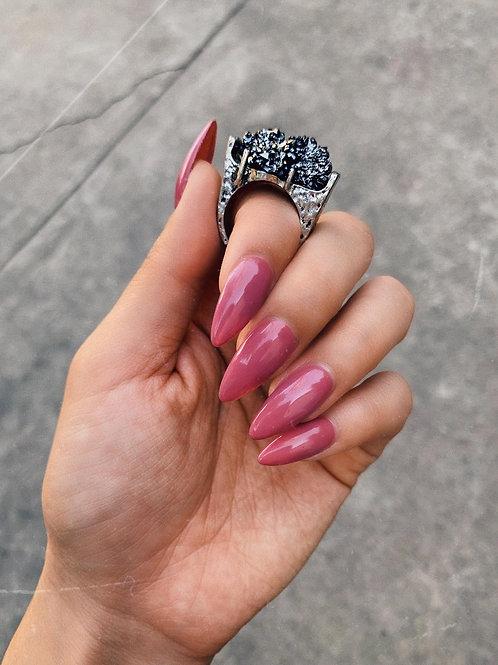Metallic Volcanic Rock Ring