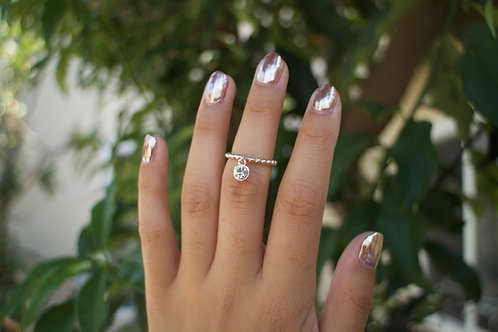Crystal Droplet Ring