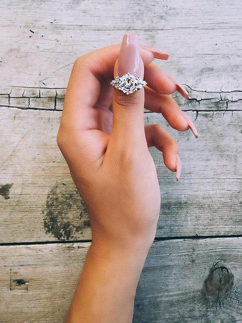 Crystal Orbit Thumb Ring