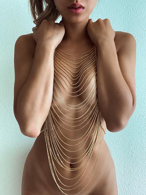 Golden Waterfalls Body Chain
