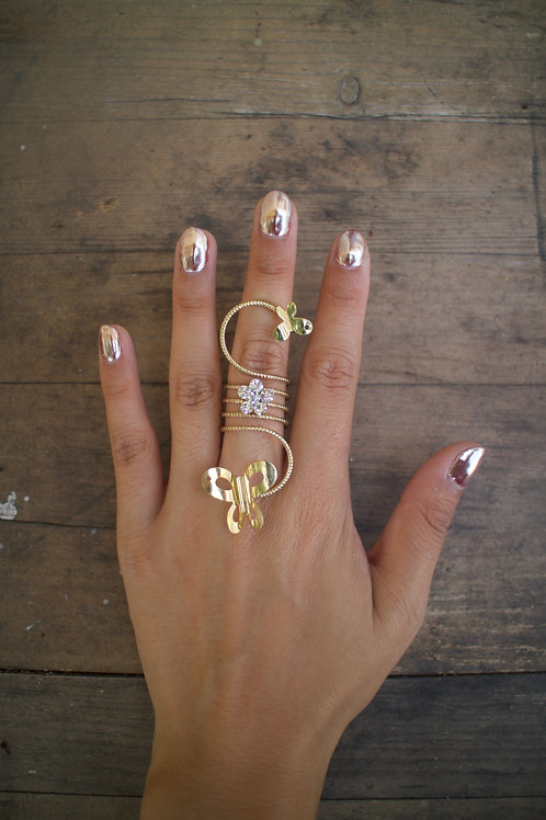 Bent Butterfly Twist Ring