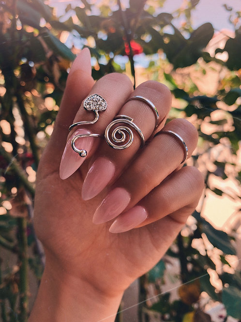 Crystal Heart Wrap Ring