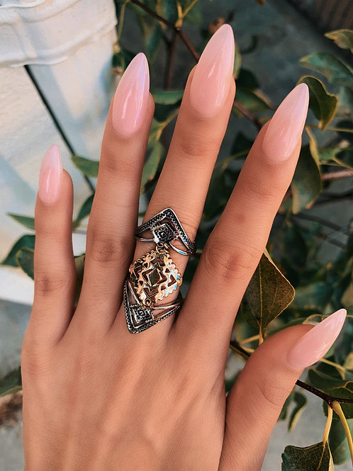 Mixed Metals Double Ring