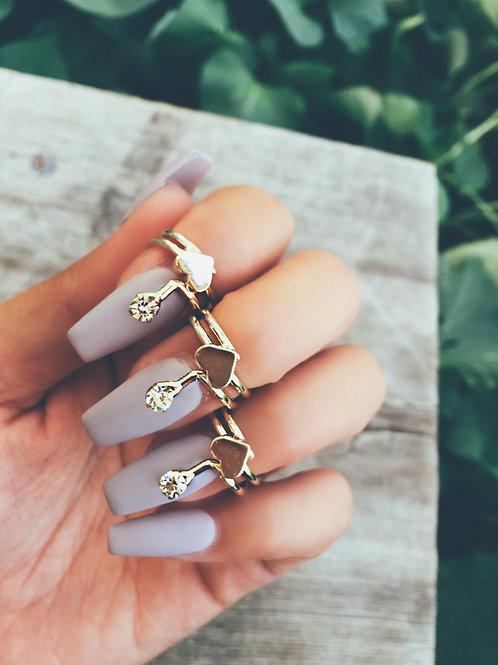 Heart Twist Nail Ring