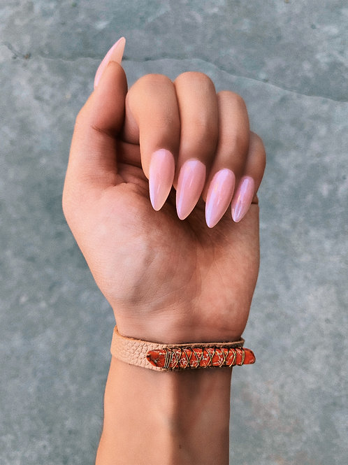 Pleather Turquoise Wrap Rock Bracelet
