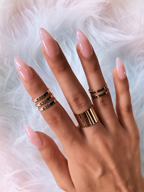 Fine Lines Metal Rings Set