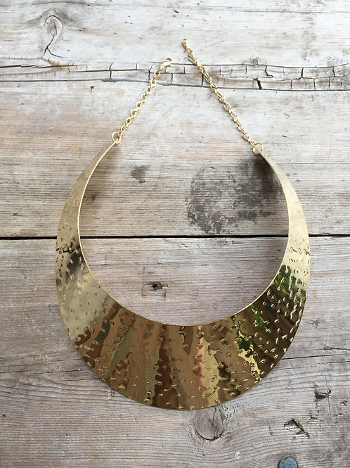 Dented Choker Plate Necklace