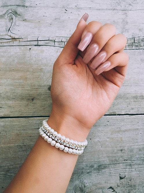 Pearl White Arm Cuff