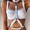 Thumbnail: White Pleather Triangle Reversible Harness