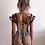 Thumbnail: Pleather Shoulder Chains Back Piece Harness