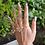 Thumbnail: Crystal Flower Hugger Ring