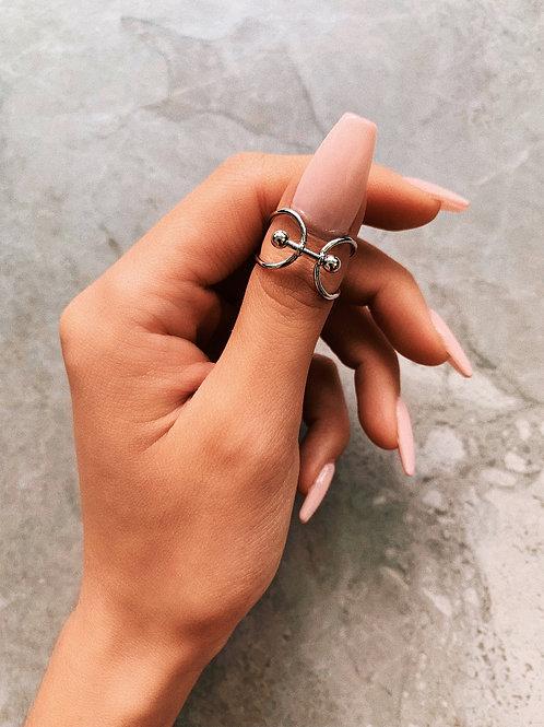 Silver Door Knocker Ring